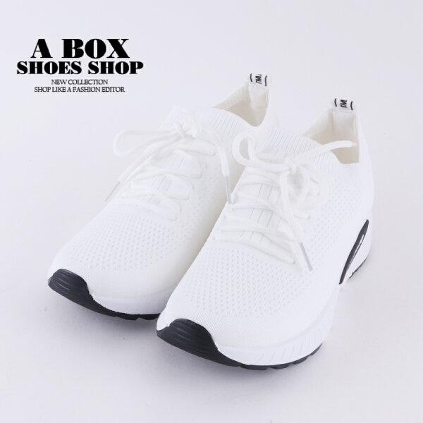 【KDF-22】3.5CM休閒鞋百搭編織素色透氣舒適休閒運動鞋綁帶包鞋