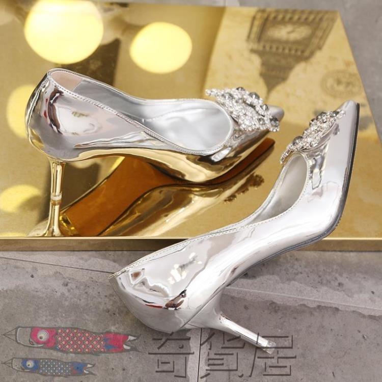 方扣水鉆高跟鞋婚鞋新娘鞋