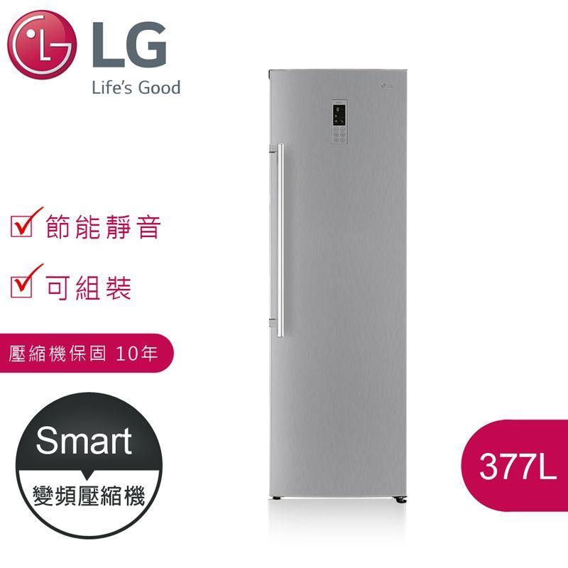 【LG樂金】 Smart 377L 變頻單門冷藏冰箱 / 精緻銀(GR-R40SV)