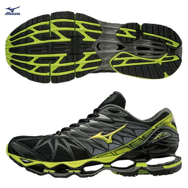 J1GC180040(黑灰X萊姆綠)WAVEPROPHECY7一般型男款慢跑鞋【美津濃MIZUNO】