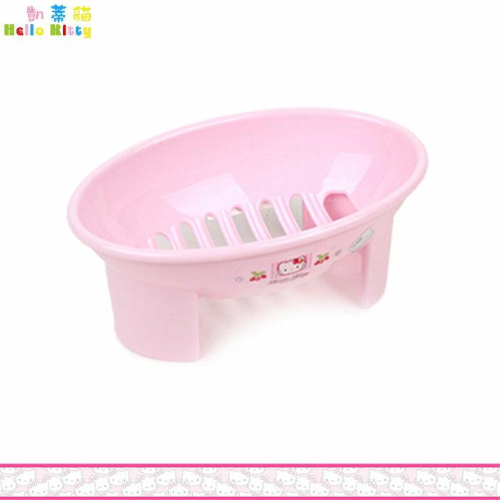 Hello Kitty 凱蒂貓 肥皂盒 粉色草莓 瀝水設計 韓國製 肥皂盤 置物盒 韓國進口正版 170083