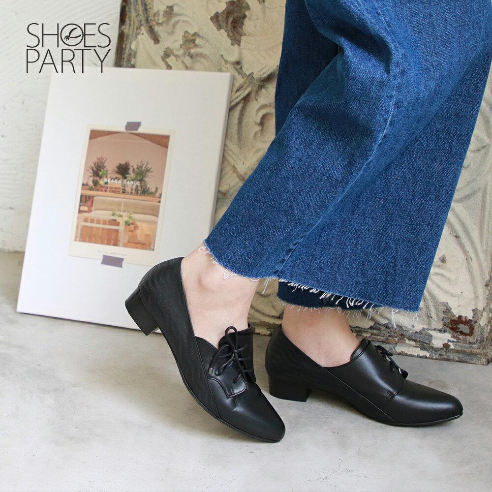 【F2-19906L】斜綁帶小V口踝靴_Shoes Party 1