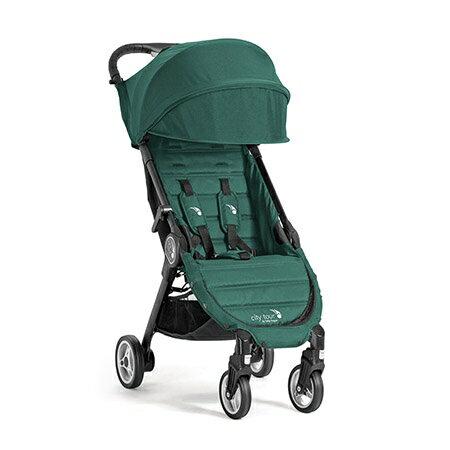 【淘氣寶寶】baby jogger city tour 單人手推車《C形旋風收折 輕量旅行車》(綠 隨車附贈同色收納背袋