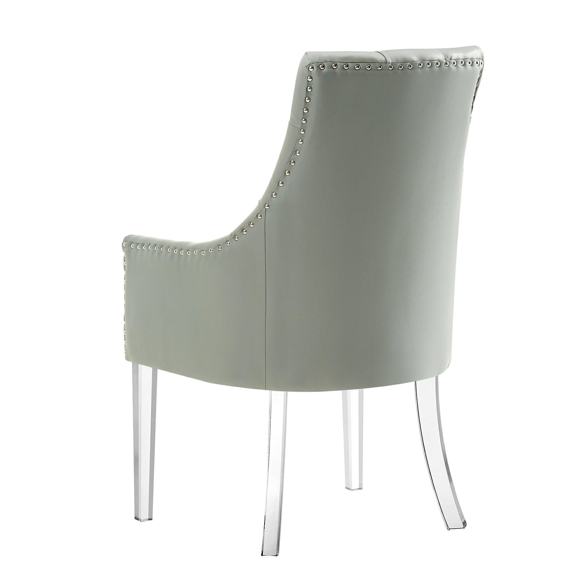 Homespot Natalie Upholstered Dining Chair Set Of 2 Velvet