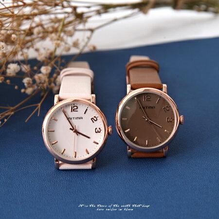 玫瑰金框多色腕錶