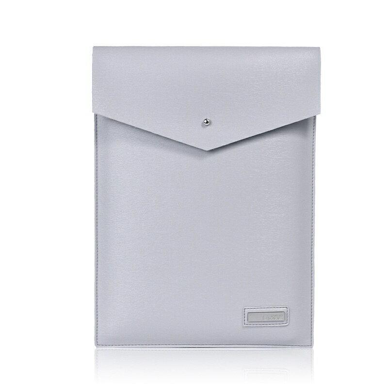 手拿包皮革電腦包-純色簡約信封包商務男女包包3色73vy40【獨家進口】【米蘭精品】 1