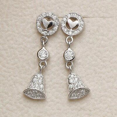 925純銀耳環鑲鑽耳飾~ 氣質百搭親節生日情人節 女飾品73dm233~ ~~米蘭 ~