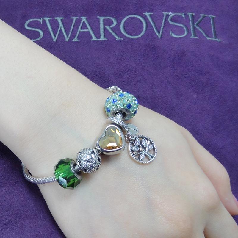 SWAROVSKI 施華洛世奇元素 925純銀手鍊 B22