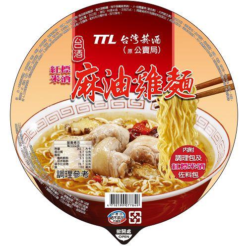 台酒TTL麻油雞碗麵200gx12入/箱【合迷雅好物商城】