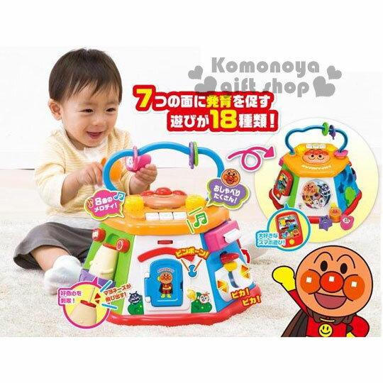 小禮堂 麵包超人 益智玩具組《大.橘盒裝.7面.18種玩法》適合10個月以上兒童