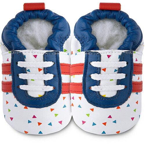 【HELLA 媽咪寶貝】英國 shooshoos 健康無毒真皮手工鞋/學步鞋/嬰兒鞋_七彩閃耀_102778 (公司貨)
