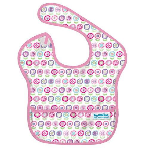 【淘氣寶寶】2016年最新 美國Bumkins防水兒童圍兜(一般無袖款6個月~2歲適用)-可愛花朵 【保證公司貨】