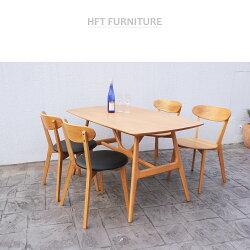 餐椅.椅子【免運現貨】復古經典 橡木OAK實木 餐椅 / 實木.黑皮.布 /HFT-0001