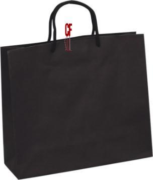 紙袋3K~25入~黑~無印~棉把手 pbag~033