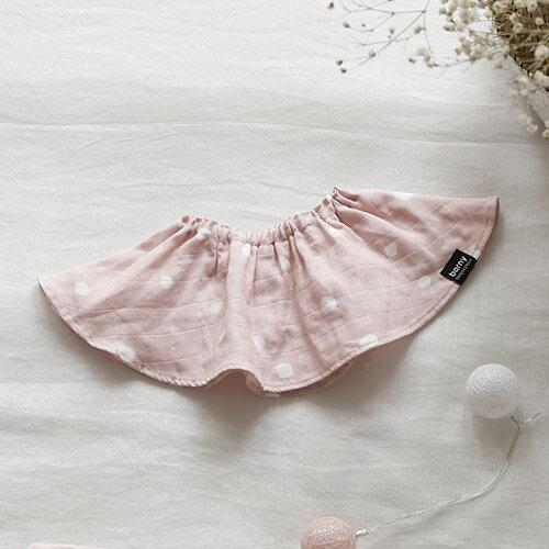 韓國【Borny】紗質圍兜-粉白點