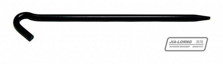 【【蘋果戶外】】嘉隆 R-019 JIALORNG 30cm 特粗大黑釘 直徑1cm 適用天幕 野場 特粗 營釘