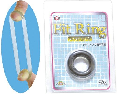 [漫朵拉情趣用品]日本MODE*FitRing猛男環-透明黑 DM-9122420