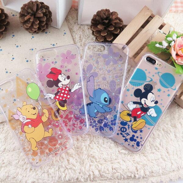 【Disney】迪士尼iPhone7施華洛世奇4.7防摔氣墊空壓保護套_經典人物
