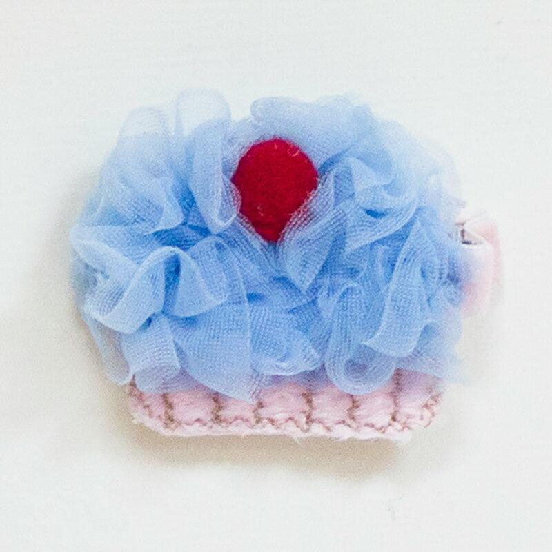 【hella 媽咪寶貝】美國 Chic Baby Rose 手工髮夾 櫻桃杯子蛋糕款 天空藍