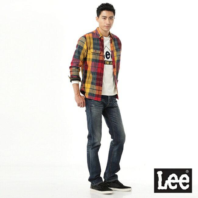 Lee 拼色長袖襯衫 3
