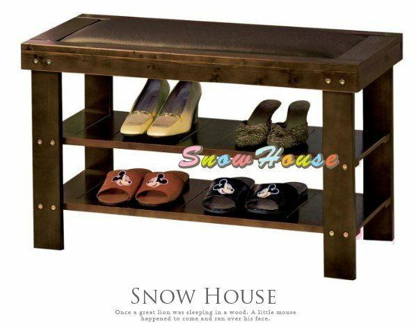 ╭☆雪之屋居家生活館☆╯AA577-03P656-04GB-016豐采皮面實木穿鞋椅鞋櫃鞋架玄關椅DIY自組