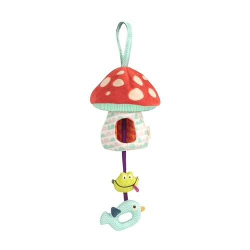 美國【B.Toys】蘑菇說晚安(聲光安撫吊飾)BX1564Z★衛立兒生活館★