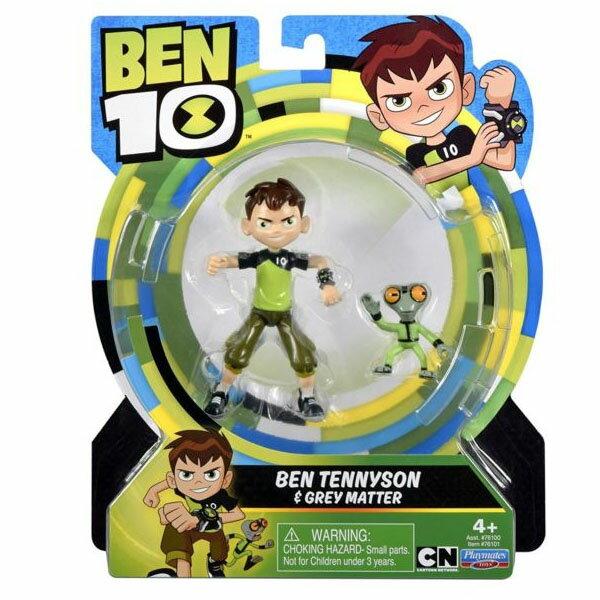 《BEN10》經典五吋公仔-小班與小奇兵Ben&Grey