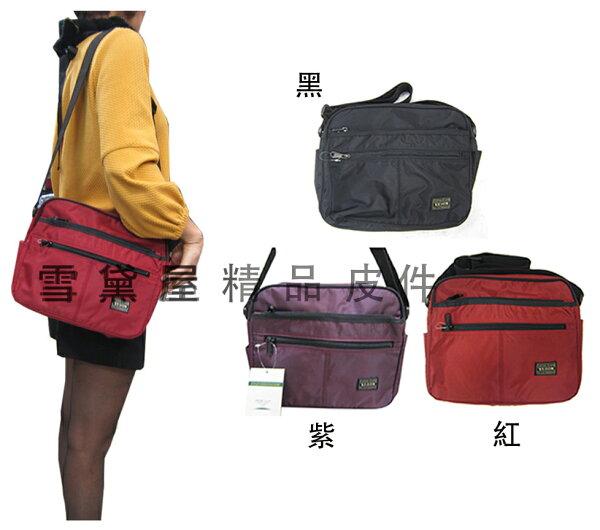 ~雪黛屋~YESON肩側包中容量多隔層外插筆台灣製品質保證YKK零件釦具高單數防水尼龍布超耐磨損耐用男女適Y42102