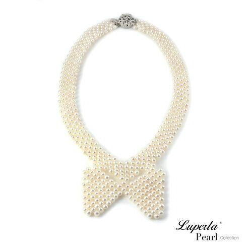 大東山珠寶 晚宴珠寶 天然珍珠項鍊 歐美古典編織珠寶 0