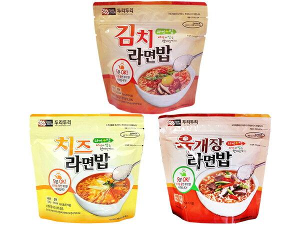 有樂町進口食品 韓國 Doori Doori~泡麵+泡飯(1袋入) 韓式泡菜/起士/大醬湯 3款可選