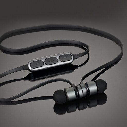 E-booksS81藍牙4.2無線磁吸入耳式耳機鐵灰E-EPA160GR自拍功能藍芽耳機【迪特軍】