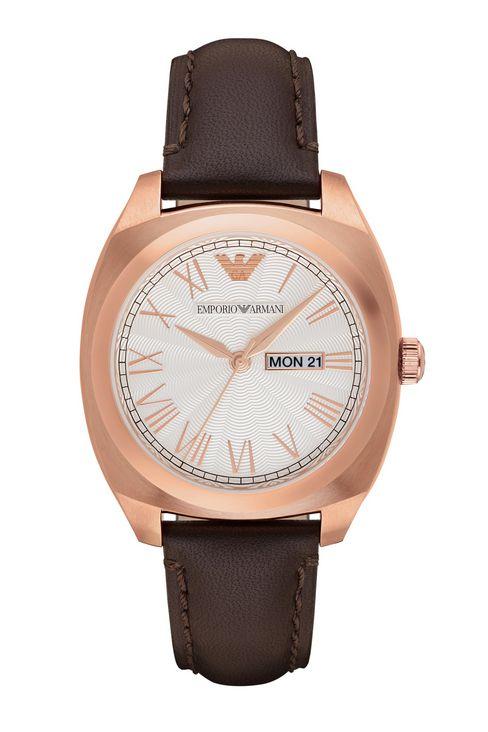 EMPORIO ARMANI 亞曼尼 AR1939 復古多菱角時尚腕錶/白面41mm