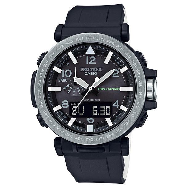 CASIO卡西歐PRO TREK 登山錶 PRG-650-1雙顯第三代三大感應器專業登山太陽能腕錶/51.5mm