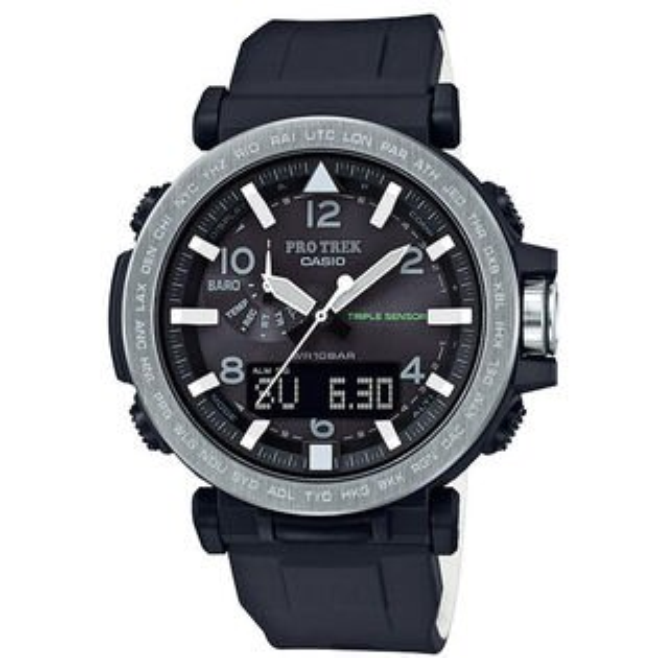 CASIO卡西歐PROTREK登山錶PRG-650-1雙顯第三代三大感應器專業登山太陽能腕錶51.5mm