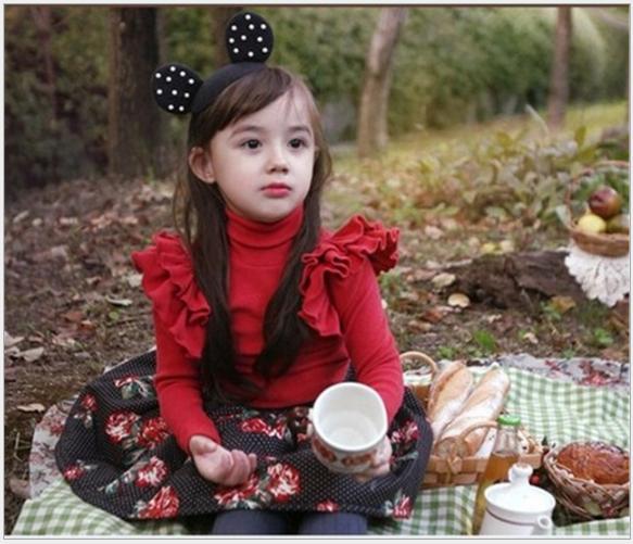 女童 珍珠米奇造型女童髮箍$69 0