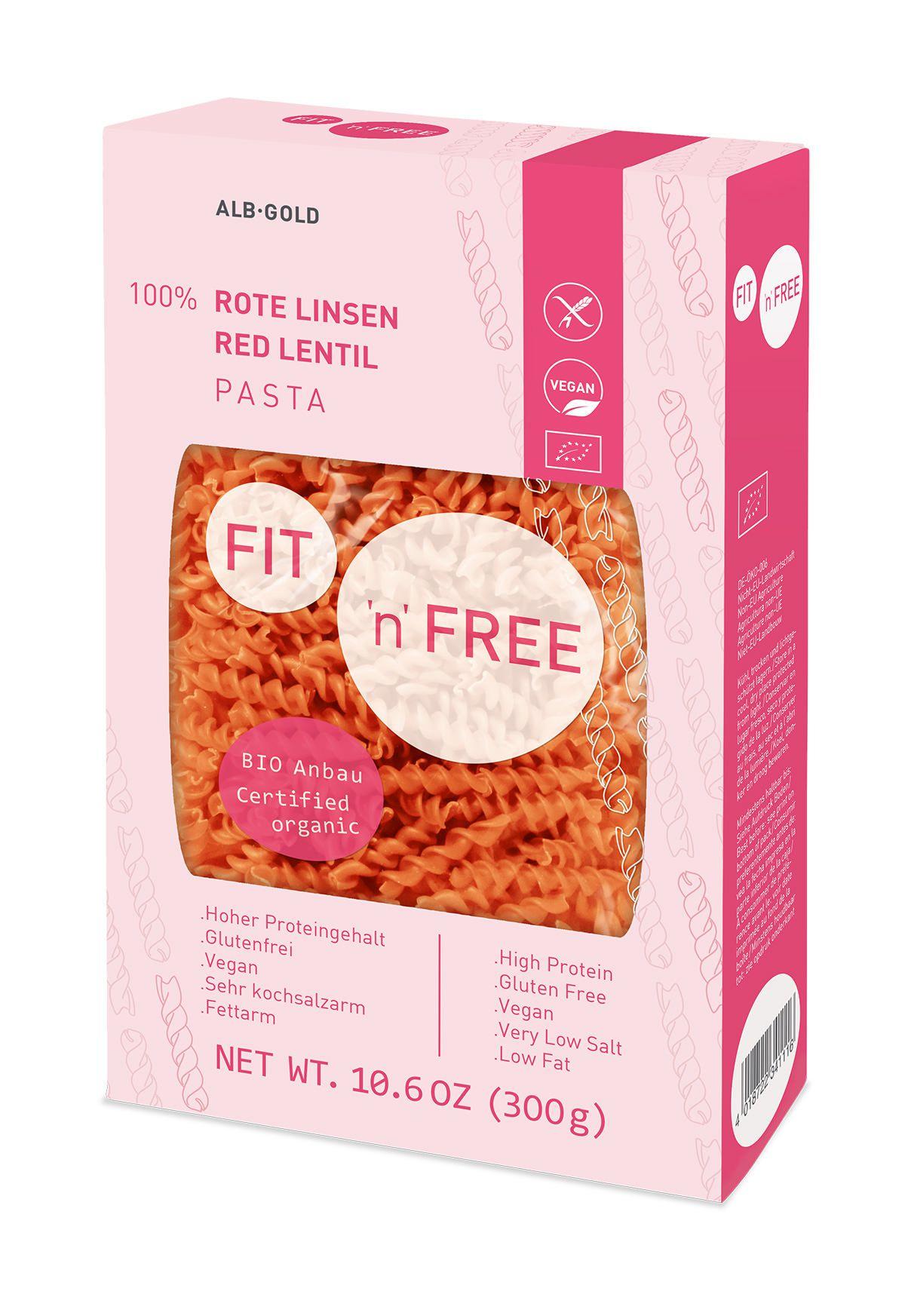 【德國Seitz】賽茲有機無麩質紅扁豆蛋白質義大利麵 Seitz Rote Linsen 300g/盒