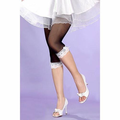 [漫朵拉情趣用品]【Doyeah】40D白花邊加厚七分褲-黑 DM-95345