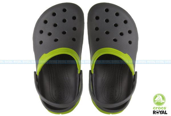 CROCS 卡駱馳 新竹皇家 灰/綠 極速迪特 涼拖 洞洞鞋 男女款 NO.A7515