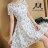 《全店8折!滿888再折$100》前短後長顯瘦蕾絲短袖洋裝 (S-2XL,3色) - 梅西蒂絲(現貨+預購) 0