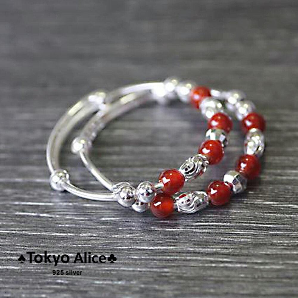Tokyo Alice 925純銀喜氣寶寶手鐲(一對),滿月禮彌月禮成長禮物寶貝手鍊飾品首飾銀飾甜美鎖骨鏈(sh0000033)