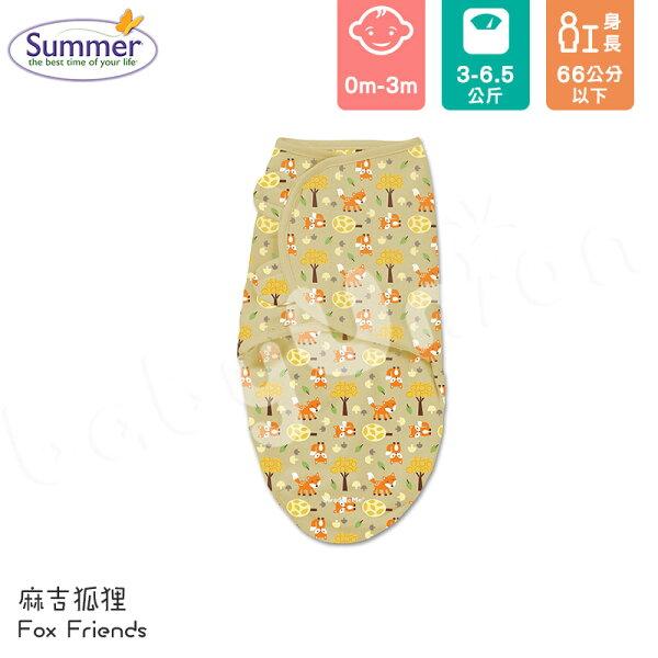 小奶娃婦幼用品:SummerInfant-SwaddleMe-Original聰明懶人育兒包巾-麻吉狐狸