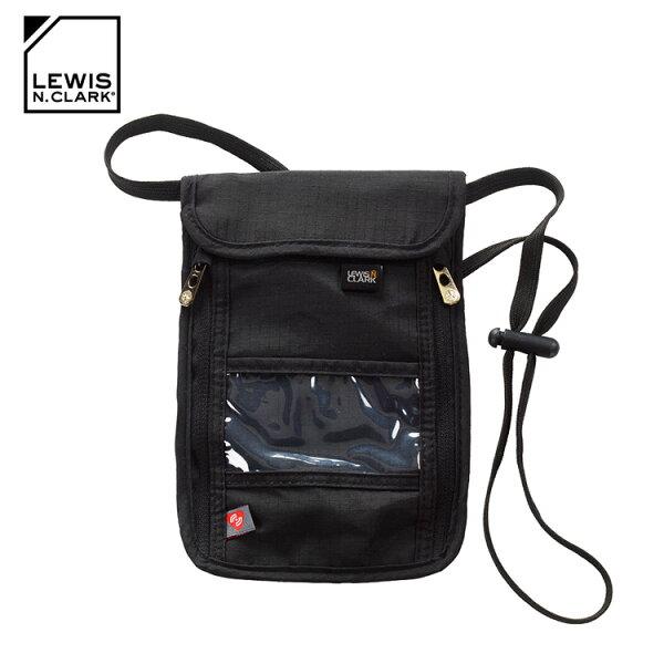 LewisN.ClarkRFID屏蔽掛頸包1267城市綠洲(防盜錄、頸部掛袋、旅遊配件、美國品牌)