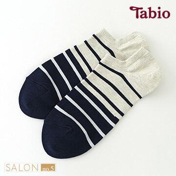 日本靴下屋Tabio 男款雙色條紋運動棉質短襪 / 運動襪.