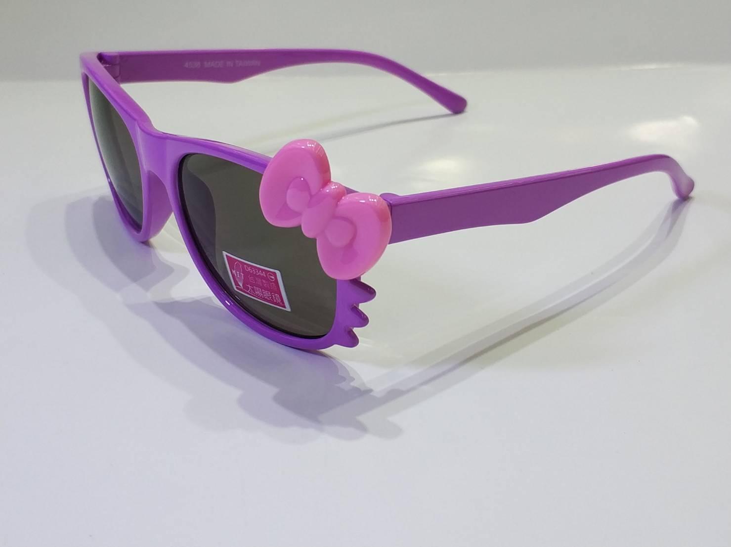 喵喵 貓咪 造型 兒童鏡框 太陽眼鏡 蝴蝶結 可愛造型太陽眼鏡  兒童眼鏡  購買此商品可以另加購眼鏡布優惠價只要1元