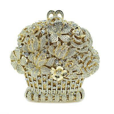 晚宴包鑲鑽手拿包-時尚奢華精美別緻女包包5色73su37【獨家進口】【米蘭精品】