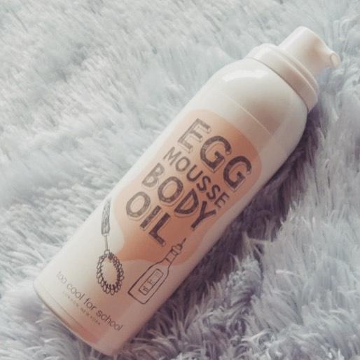 [現貨供應]Too Cool for School Egg Mousse BODY OIL雞蛋白滑潤膚油-粉瓶