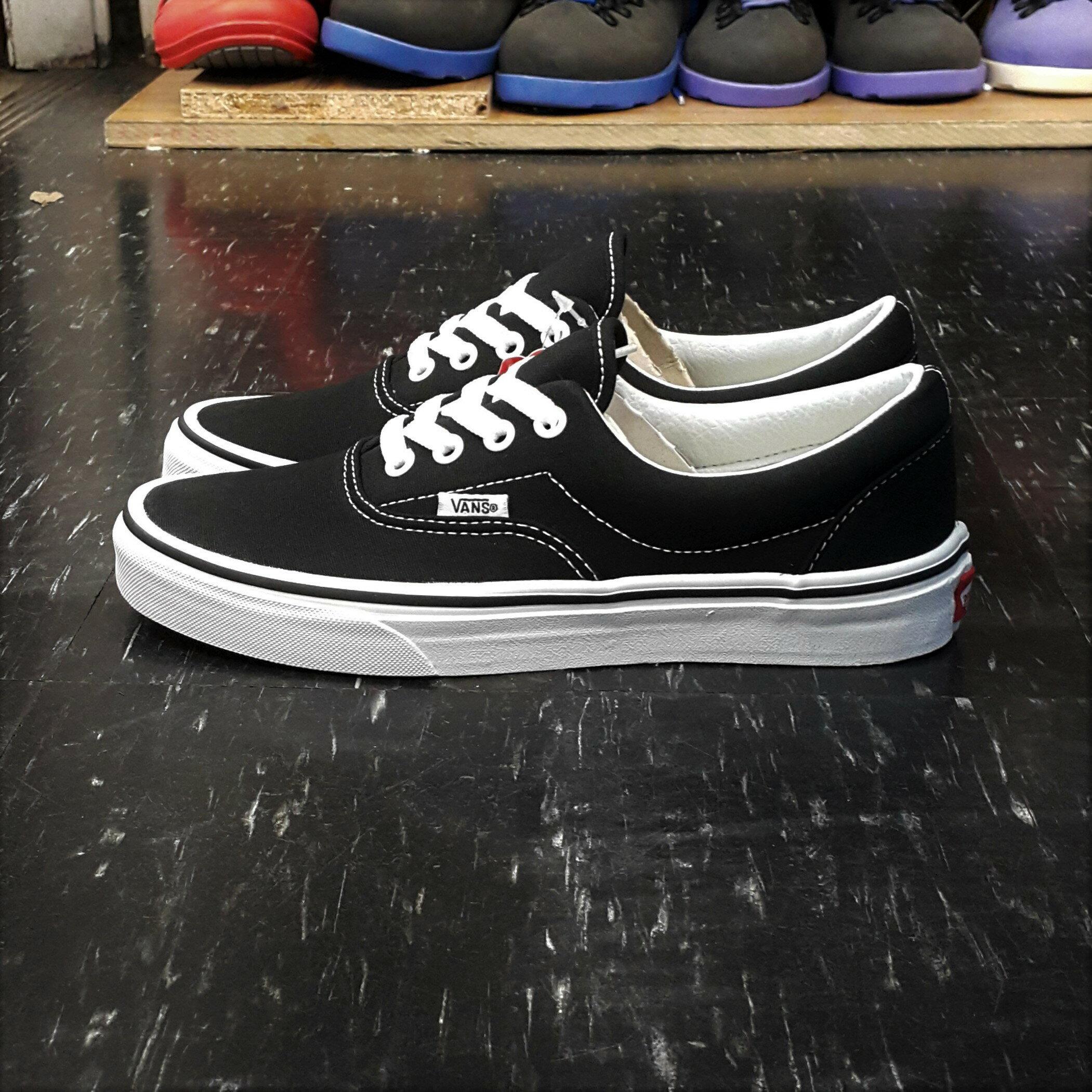 VANS ERA BLACK 黑白 黑色 帆布 基本款 厚內裡 滑板鞋