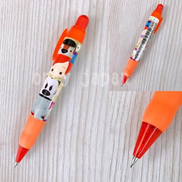 【真愛日本】11030400036胖胖自動鉛筆-橘PLK2方塊迪士尼米奇米老鼠自動鉛筆自動筆文具胖胖鉛筆