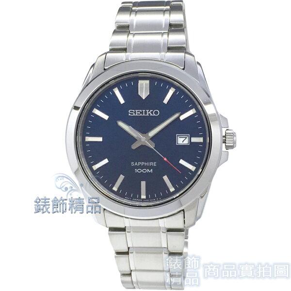 【錶飾精品】SEIKO手錶SGEH47P1精工表藍寶石鏡面藍面鋼帶男錶全新原廠正品