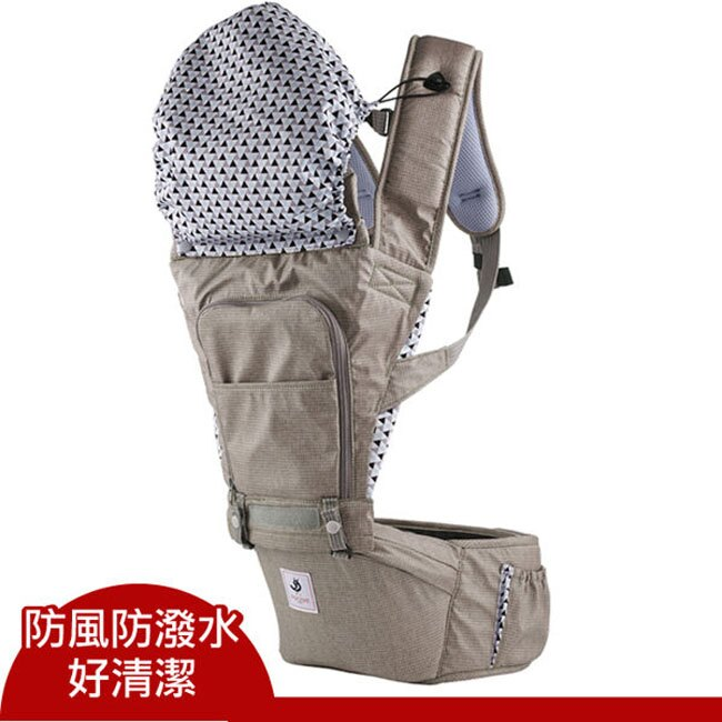 韓國Pognae No.5超輕量坐墊式揹巾/背帶/揹巾(巴黎摩卡)~總公司代理貨